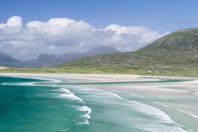 Seilebost Beach on South Harris, Sound of Transay. Scotland-Martin Zwick-Photographic Print