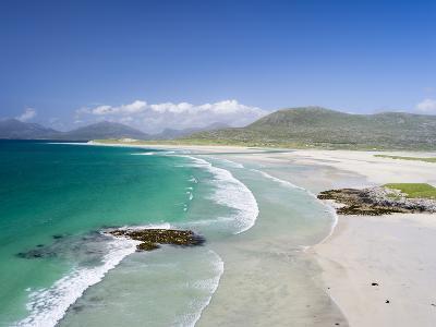 Seilebost Beach on South Harris, Sound of Transay. Scotland-Martin Zwick-Photographic Print