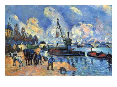 Seine at Bercy-Paul C?zanne-Art Print