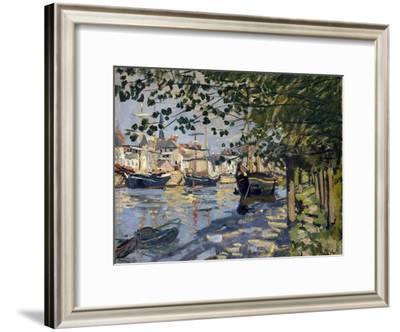 Seine at Rouen, 1872-Claude Monet-Framed Giclee Print