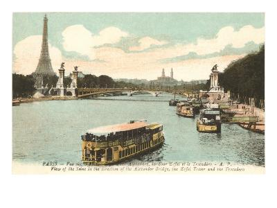 Seine, Eiffel Tower, Paris, France--Art Print
