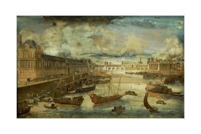 Seine River with Grand Gallery and Four-Nations College (Today Institute De France) by Unknown Arti--Giclee Print