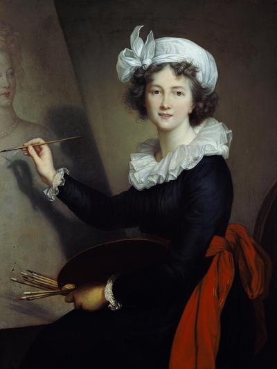 Selbstbildnis Beim Malen-Elisabeth-Louise Vigée-Lebrun-Giclee Print