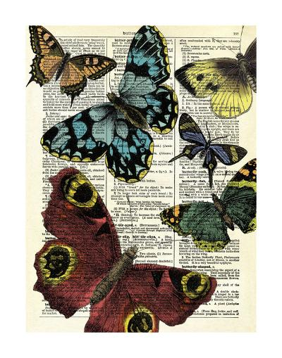 Selection of Butterflies-Marion Mcconaghie-Art Print
