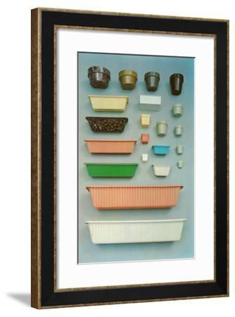 Selection of Plastic Plant Containers--Framed Art Print