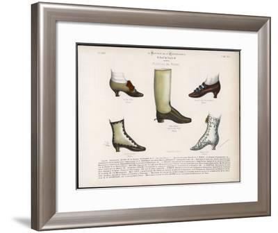 Selection of Victorian Shoes and Boots for Men and Women-La Moniteur-Framed Giclee Print