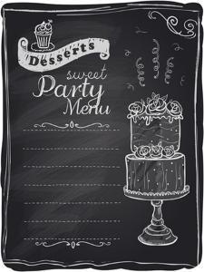 Chalk Desserts Party Menu by Selenka