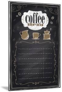 Vintage Chalk Coffee Menu by Selenka