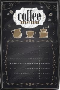 Vintage Chalk Coffee Menu by Selenka