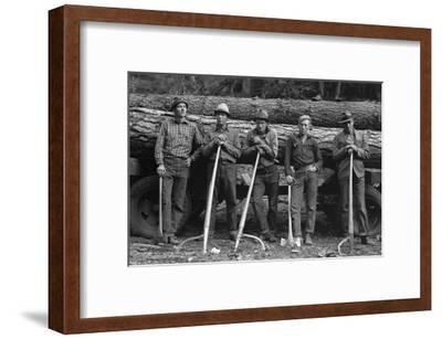 Self-Help Sawmill Workers-Dorothea Lange-Framed Art Print