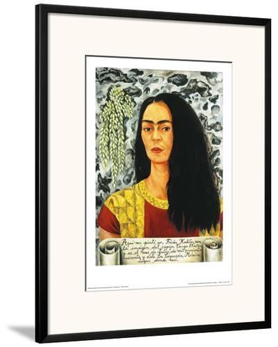 Self-Portait with Loose Hair - 1947-Frida Kahlo-Framed Art Print