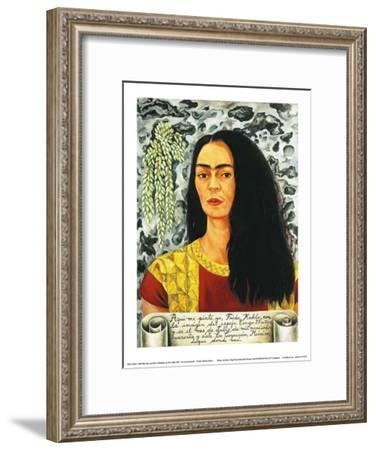 Self-Portait with Loose Hair, c.1947-Frida Kahlo-Framed Art Print