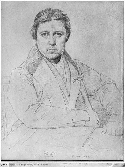 Self Portrait, 1835-Jean-Auguste-Dominique Ingres-Giclee Print