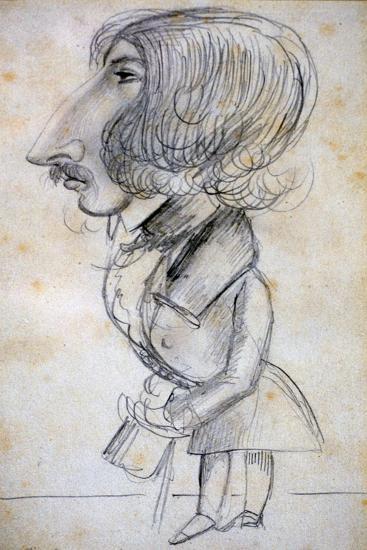 Self Portrait, 1838-Alfred de Musset-Giclee Print