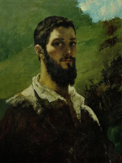 Self-Portrait, 1850-1853-Gustave Courbet-Giclee Print