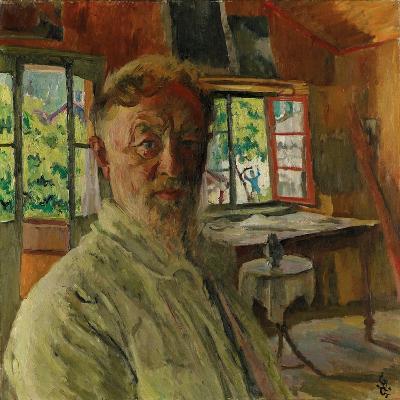 Self Portrait, 1931-Giovanni Giacometti-Giclee Print