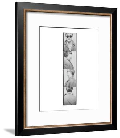 Self Portrait, 1963 (Photobooth)-Andy Warhol-Framed Art Print