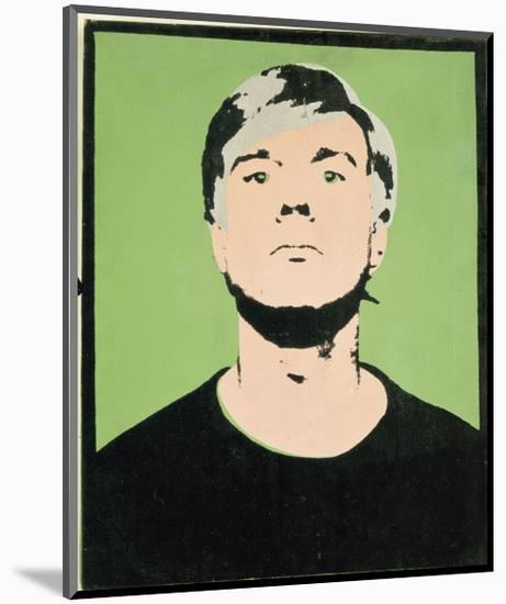 Self-Portrait, 1964 (on green)-Andy Warhol-Mounted Giclee Print