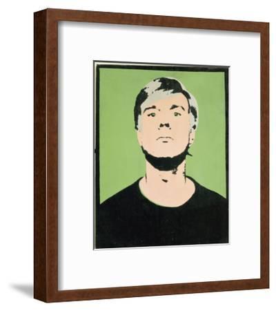 Self-Portrait, 1964 (on green)-Andy Warhol-Framed Giclee Print