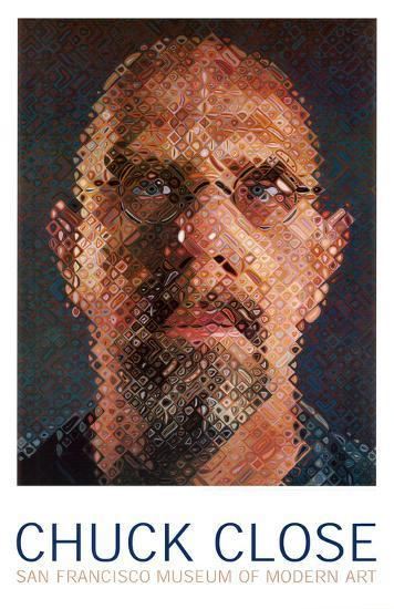 Self-Portrait, 2000-2001-Chuck Close-Art Print