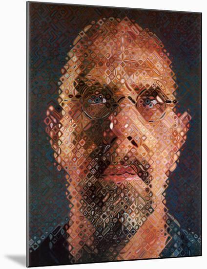 Self-Portrait, 2000-2001-Chuck Close-Mounted Art Print