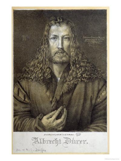 Self Portrait Aged 28, 1500-Albrecht D?rer-Giclee Print