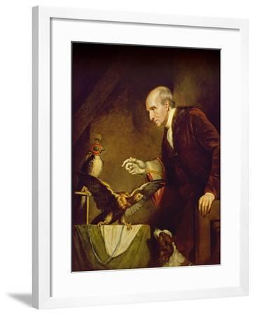 Self Portrait as a Falconer, 1823-James Northcote-Framed Giclee Print