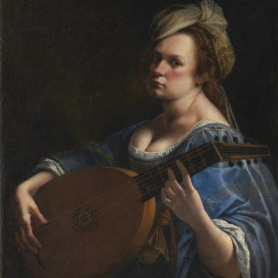 Self Portrait As A Lute Player Giclee Print By Artemisia Gentileschi