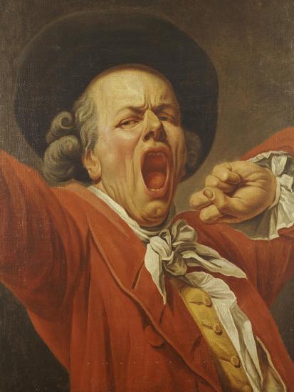 Self-Portrait as a Yawning Man, 1791-Francois-joseph Ducreux-Giclee Print