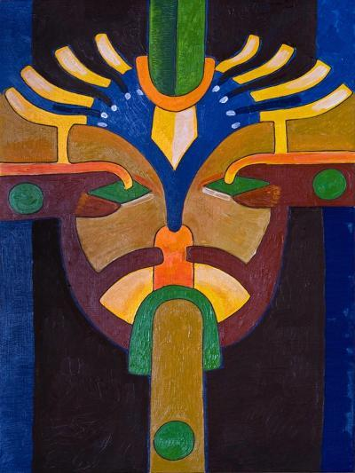 Self-Portrait as One of My Early Ancestors in a Sanctuary, 2007-Jan Groneberg-Giclee Print