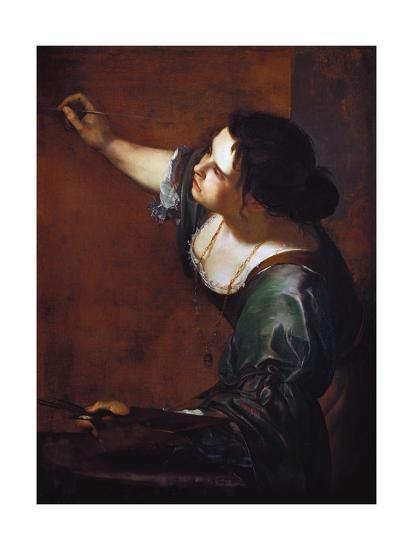 9963299000c Self-Portrait as the Allegory of Painting Giclee Print by Artemisia  Gentileschi