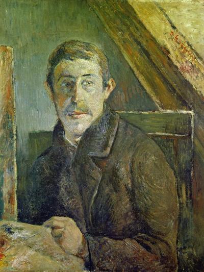 Self Portrait at His Easel, 1885-Paul Gauguin-Giclee Print