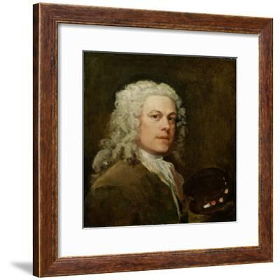 Self Portrait, c.1735-40-William Hogarth-Framed Giclee Print
