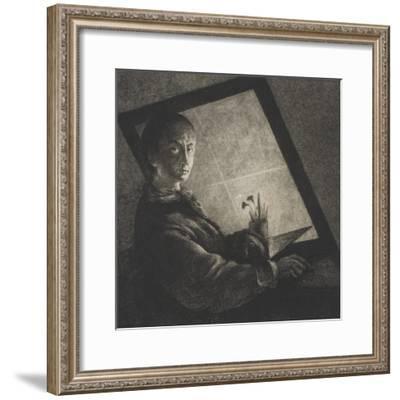 Self Portrait, C.1778-Jean Pierre Norblin-Framed Giclee Print