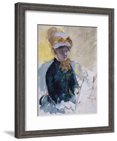 Self Portrait, c.1880-Mary Stevenson Cassatt-Framed Premium Giclee Print