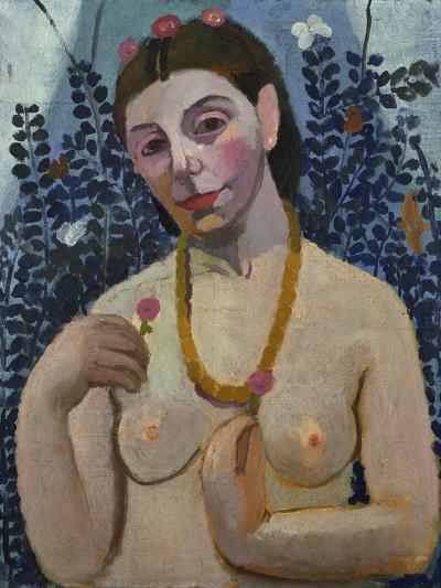 "Self-Portrait (Half-Portrait, ""Nude with Necklace"") 1906-Paula Modersohn-Becker-Giclee Print"