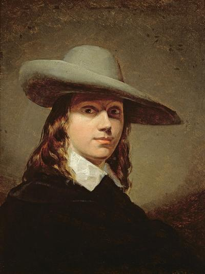 Self-Portrait in a Broad-Brimmed Hat, 1848-Anthony Frederick Augustus Sandys-Giclee Print