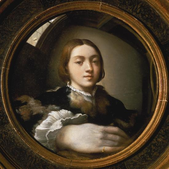 Self-Portrait in a Convex Mirror, 1523/24-Parmigianino-Giclee Print