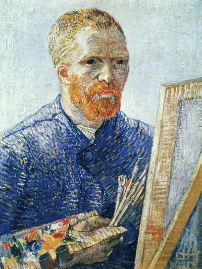 Self-Portrait in front of the Easel, c.1888-Vincent van Gogh-Giclee Print