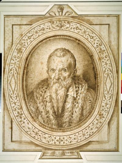 Self Portrait in Old Age, with Simulated Enframement-Bartolomeo Passarotti-Giclee Print