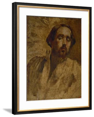 Self-Portrait in the Painter's Smock, 1860-1862-Edgar Degas-Framed Giclee Print