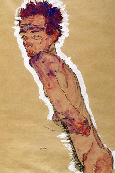Self Portrait Nude, 1910-Egon Schiele-Giclee Print