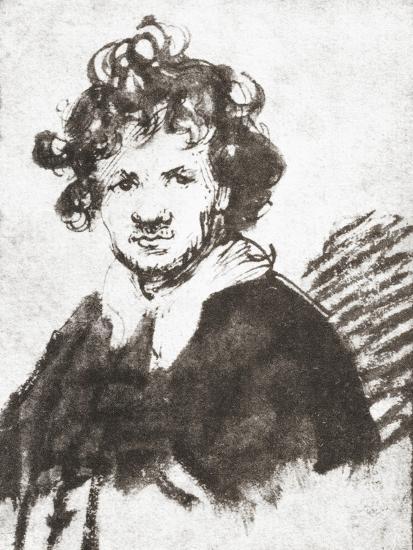 Self Portrait of Rembrandt Harmenszoon Van Rijn--Giclee Print