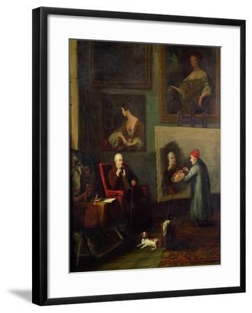 Self Portrait of the Artist Painting Sir Walter Scott (1771-1832)-James Northcote-Framed Giclee Print