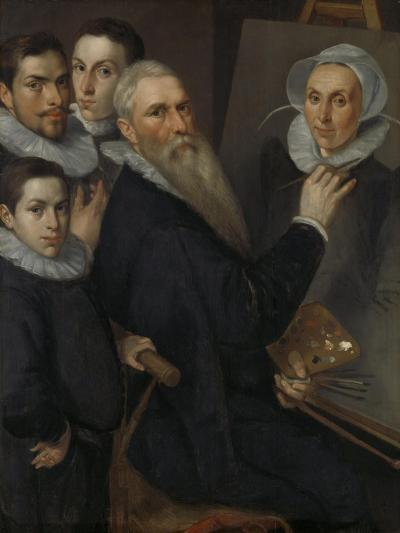 Self- Portrait of the Painter with His Family,-Jacob Willemsz Delff I-Art Print