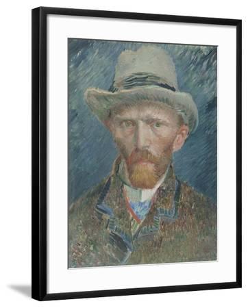 Self-Portrait, Vincent Van Gogh.-Vincent van Gogh-Framed Art Print