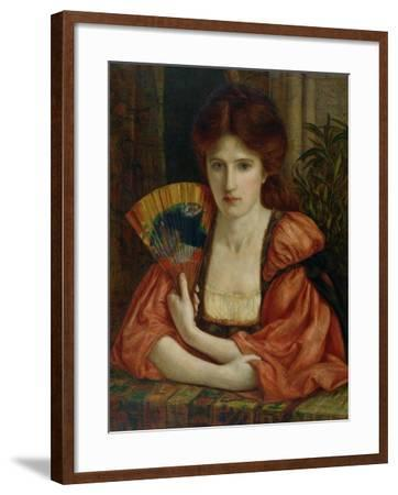 Self Portrait (W/C on Paper) (See also 183575)-Marie Spartali Stillman-Framed Giclee Print
