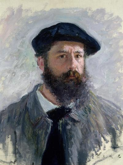 Self Portrait with a Beret, 1886-Claude Monet-Giclee Print