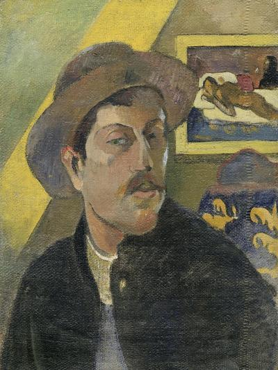 Self Portrait with a Hat-Paul Gauguin-Art Print