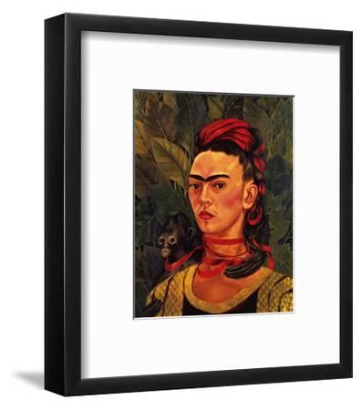 Self Portrait with a Monkey, c.1940-Frida Kahlo-Framed Art Print